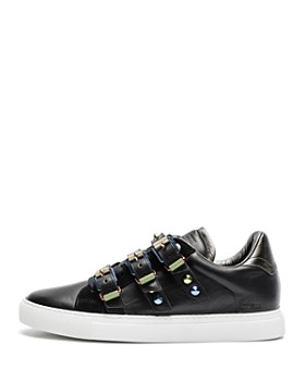 Zadig & Voltaire - Women's ZV1747 Metal Buckled Leather Sneakers