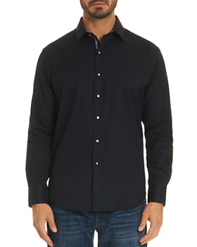 Robert Graham - Diamante Tonal-Print Classic Fit Shirt