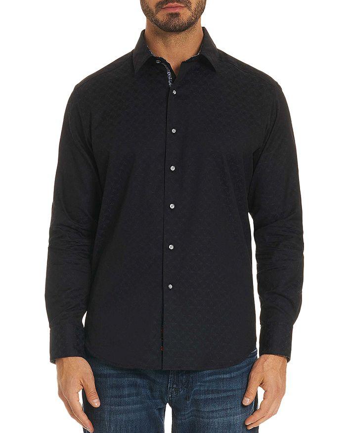 Robert Graham - Diamante Tonal-Print Classic Fit Shirt