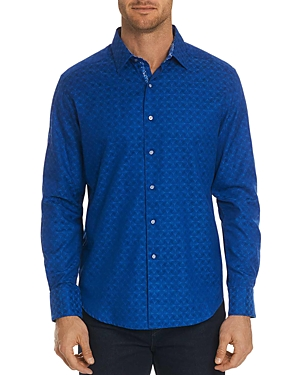 Robert Graham Diamante Tonal-Print Classic Fit Shirt