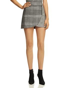Alice and Olivia - Lennon Zip Detail Plaid Mini Skirt