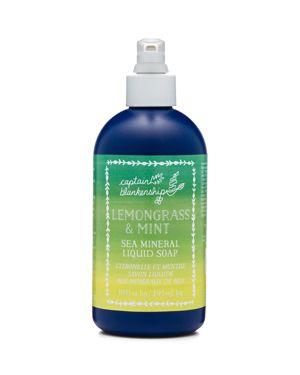 CAPTAIN BLANKENSHIP LEMONGRASS & MINT SEA MINERAL LIQUID SOAP