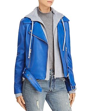 Aqua Two-Piece Hoodie Moto Jacket - 100% Exclusive