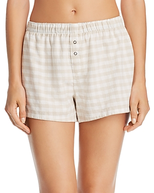 Pj Salvage LAZY DAYS GINGHAM COTTON TWILL PJ SHORTS