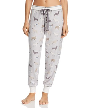 PJ Salvage - Dog Print Jersey Jogger PJ Pants