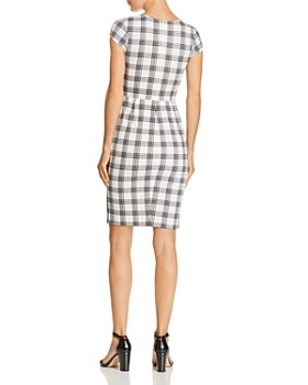 AQUA - Plaid Body-Con Dress - 100% Exclusive