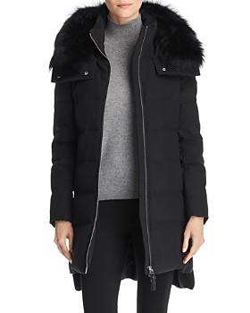 Derek Lam 10 Crosby - Athletic Fur Trim Down Coat