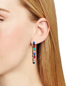 Rebecca Minkoff - Multicolor Bead Hoop Earrings