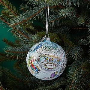 Michael Storrings Central Park Skating Glass Ball Ornament