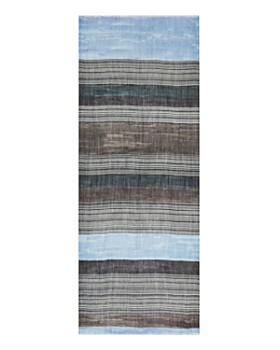 AQUA - Variegated Striped Wool Scarf - 100% Exclusive