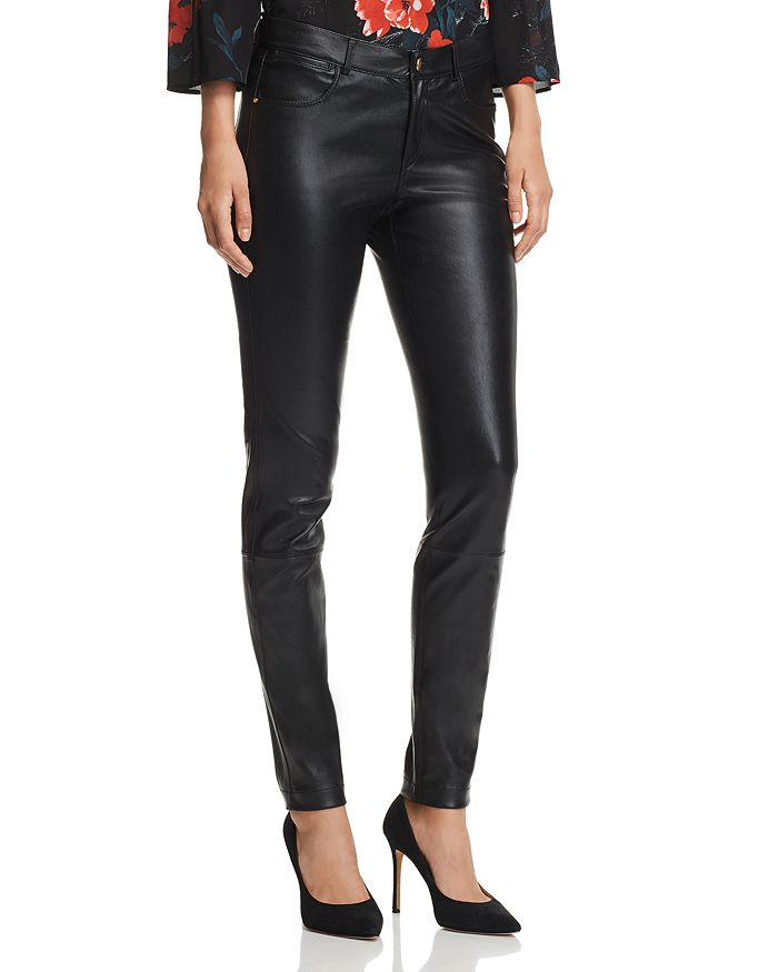 dca200ae35 Lafayette 148 New York Mercer Skinny Leather Pants | Bloomingdale's