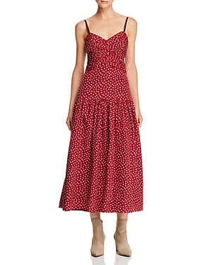 Rebecca Taylor Sleeveless Silk Heart-Print Dress