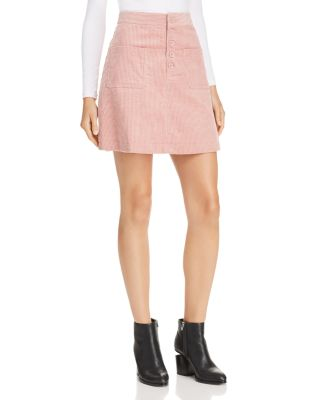 Alicia Corduroy Mini Skirt by Lost And Wander