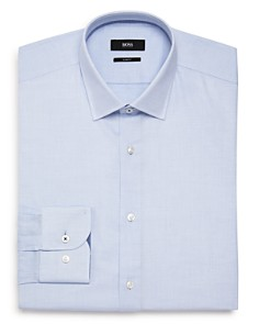 BOSS - Micro-Dash Slim Fit Dress Shirt