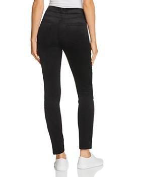 PAIGE - Hoxton Ultra Skinny Velvet Corduroy Jeans in Black Cord Velvet