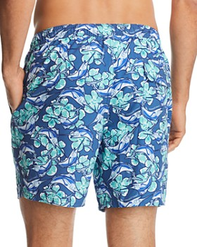 Vineyard Vines - Marlin & Floral-Print Swim Trunks