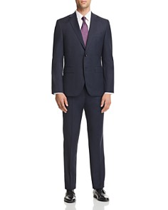 BOSS - Micro-Houndstooth Johnstons/Lenon Regular Fit Wool Suit - 100% Exclusive