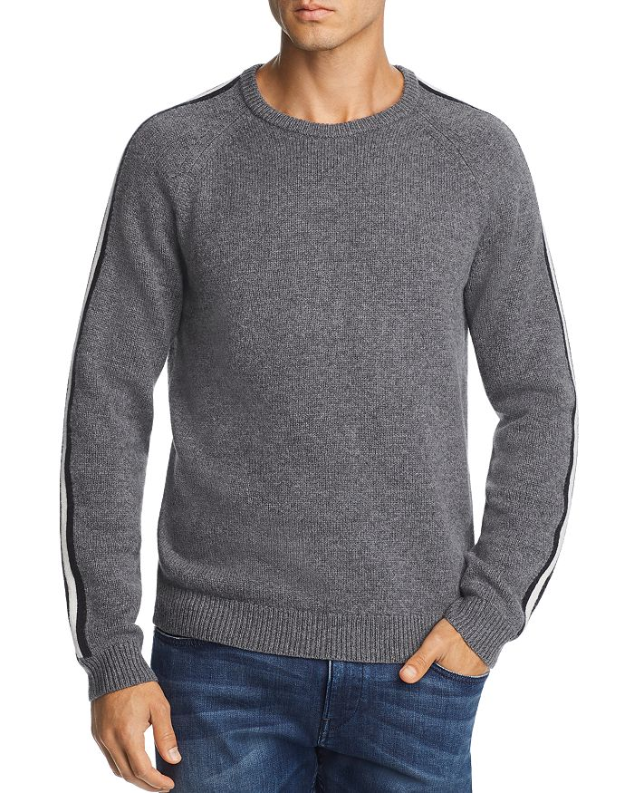 The Men's Store at Bloomingdale's - Stripe-Trimmed Merino Wool Sweater - 100% Exclusive