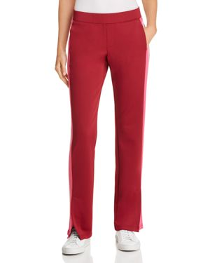 Microscuba Side Slit Track Pants in Burgundy