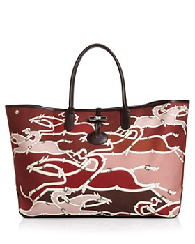 Longchamp - Roseau Galop Extra Large Canvas Shoulder Tote