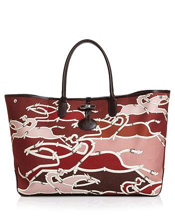 Longchamp Roseau Galop Extra Large Canvas Shoulder Tote   Bloomingdale s e734251521