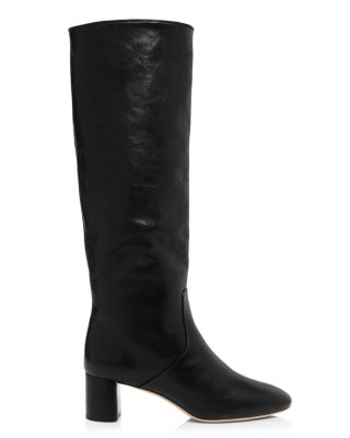 womens genuine leather knee high boots block high heel riding boots tops 13 Clothing, Shoes & Accessories