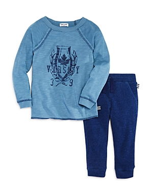 Splendid Boys' Raglan Varsity Tee & Waffle-Knit Jogger Pants Set - Little Kid