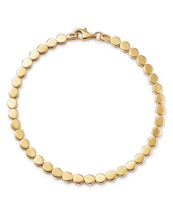 Moon & Meadow - 14K Yellow Gold Beaded Disc Bracelet - 100% Exclusive