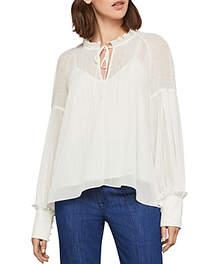 Bcbgmaxazria Metallic-Stripe Top