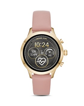 Michael Kors - Runway Pink Leather Smart Watch Strap, 18mm
