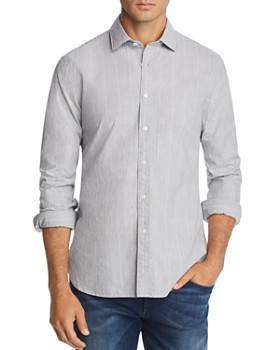 The Men's Store at Bloomingdale's - Grid-Print Broadcloth Slim Fit Shirt - 100% Exclusive