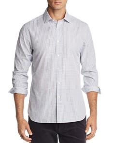 The Men's Store at Bloomingdale's - Grid-Print Broadcloth Slim Fit Shirt - 100% Exclusive