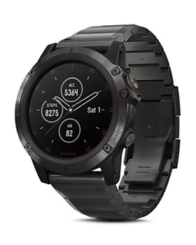 Garmin - fenix® 5X Plus Sapphire Premium Multisport GPS Smartwatch with Titanium Strap, 51mm
