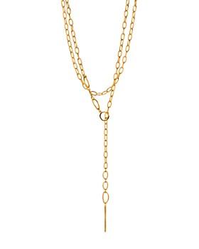 "Gorjana - Rowan Threader Lariat Necklace, 38"""