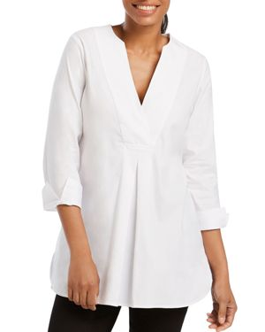 FOXCROFT VAUGHN THREE-QUARTER SLEEVE TUNIC