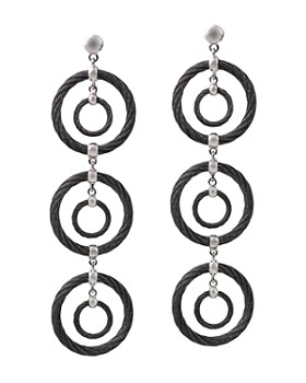 ALOR - Noir Cable Drop Earrings