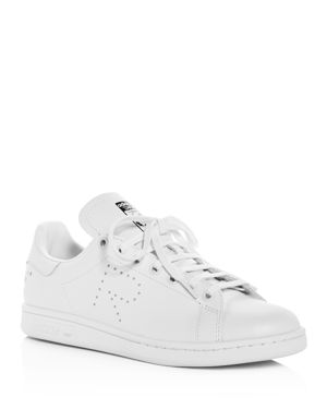 Raf Simons For Adidas Women'S Stan Smith Leather Lace-Up Sneakers in White