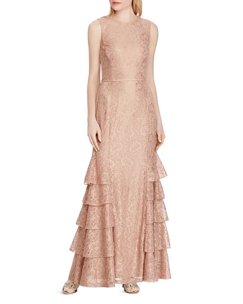 Ralph Lauren Tiered Lace Gown | Bloomingdale\'s