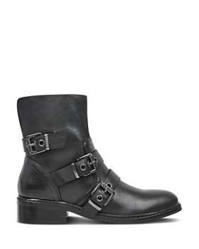 Kendall + Kylie - Women's Nori Round Toe Leather Low-Heel Booties