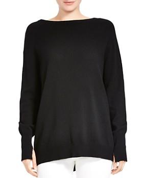 HALSTON HERITAGE - Merino Wool & Cashmere Tie-Back Sweater