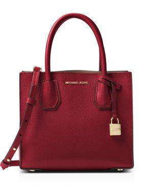 Mercer Leather Crossbody Bag - Burgundy, Maroon