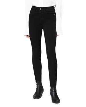 Social High-Rise Skinny Ankle Jeans In Black, Eyeliner