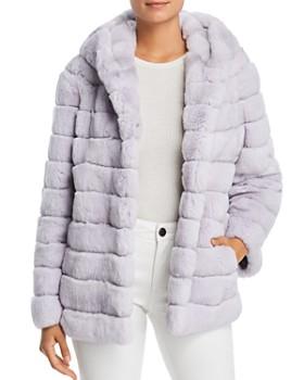 1fde8e6dba61 Maximilian Furs - Hooded Rabbit Fur Coat - 100% Exclusive ...
