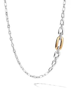 David Yurman - Wellesley Link Long Necklace in Sterling Silver with 18K Yellow Gold, 36""