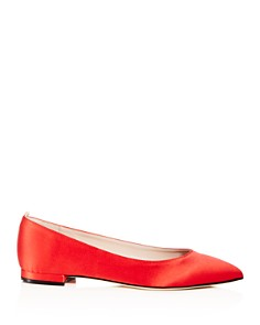 SJP by Sarah Jessica Parker - Women's Story Satin Pointed Toe Ballet Flats