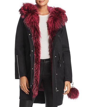 Maximilian Furs - Rabbit Fur-Lined Parka with Fox Fur Trim- 100% Exclusive