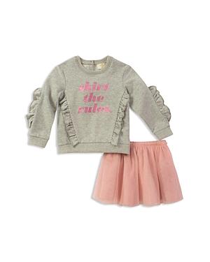kate spade new york Girls Skirt the Rules Sweatshirt  Tulle Skirt Set  Baby