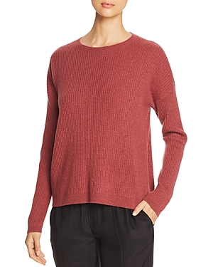 Eileen Fisher Petites Ribbed Cashmere Sweater