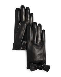 kate spade new york - Bow Detail Leather Gloves