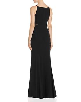 AQUA - V-Neck Illusion Gown - 100% Exclusive
